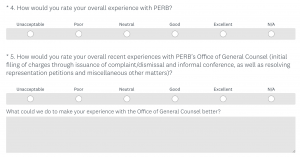 This image displays a screenshot of the constituent survey.